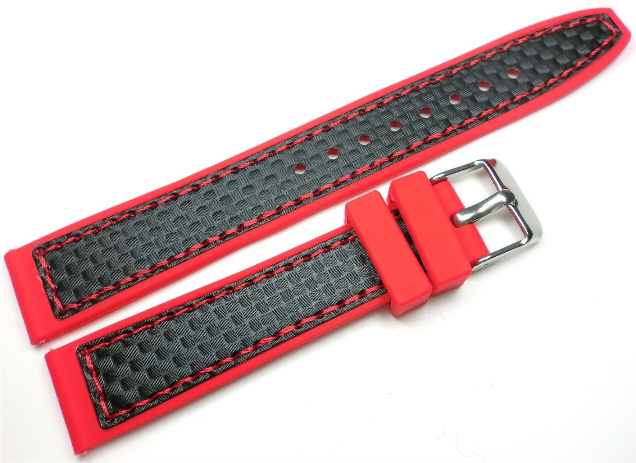 651b2722643969 Silikonowy pasek do zegarka 18 mm Tekla TS18.011.04 Kliknij, aby powiększyć  ...