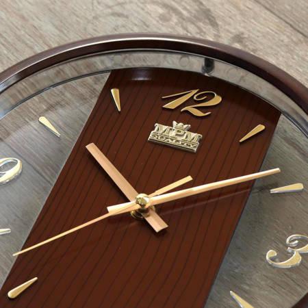 Ażurowy zegar ścienny MPM E01.2429.52 25,5 cm