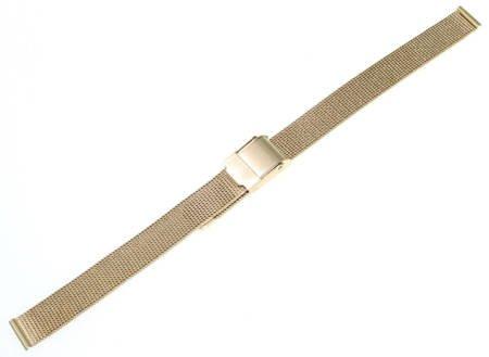 Bransoleta stalowa do zegarka 10 mm Tekla BC2.10 Gold