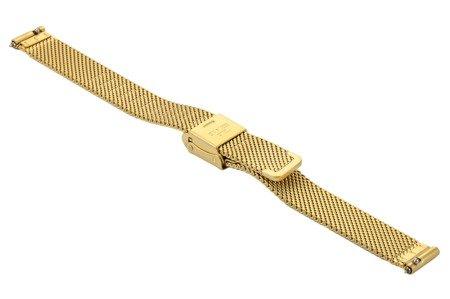 Bransoleta stalowa do zegarka 14 mm Bisset BM-101/14 Gold Mat