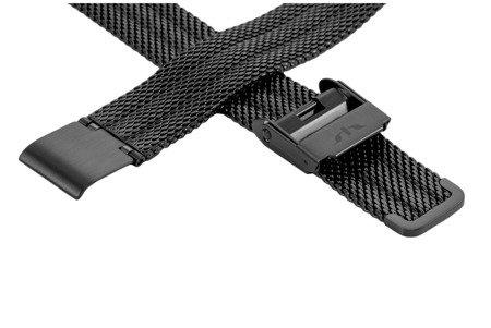 Bransoleta stalowa do zegarka 14 mm Bisset BM-103/14 Black