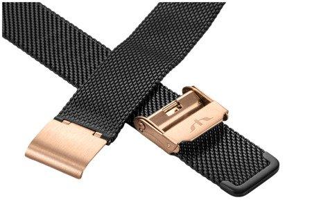 Bransoleta stalowa do zegarka 16 mm Bisset BM-101/16 TT Black