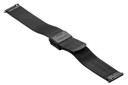 Bransoleta stalowa do zegarka 16 mm Bisset BM-103/16 Black
