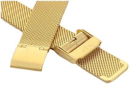 Bransoleta stalowa do zegarka 18 mm Bisset BM-101/18 Gold Mat