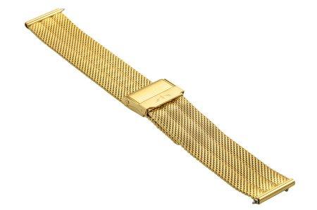 Bransoleta stalowa do zegarka 18 mm Bisset BM-103/18 Gold