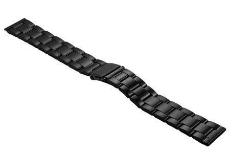 Bransoleta stalowa do zegarka 20 mm BR-119/20 Black Mat