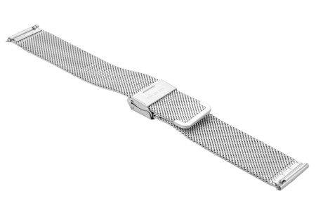 Bransoleta stalowa do zegarka 20 mm Bisset BM-101/20 Silver Mat