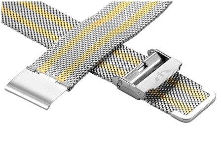Bransoleta stalowa do zegarka 20 mm Bisset BM-101/20 TT Gold