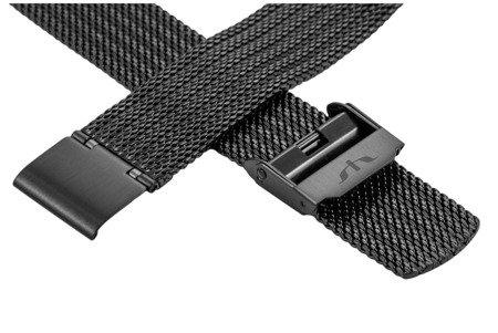 Bransoleta stalowa do zegarka 20 mm Bisset BM-105/20 Black
