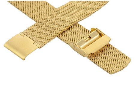 Bransoleta stalowa do zegarka 20 mm Bisset BM-105/20 Gold Mat
