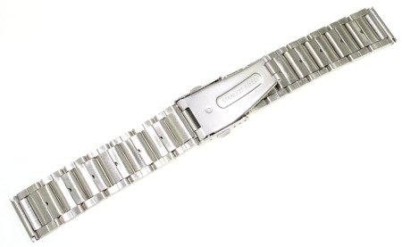 Bransoleta stalowa do zegarka 20 mm Bisset BR20.01 Silver