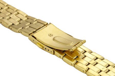 Bransoleta stalowa do zegarka 22 mm BR-111.22 Gold