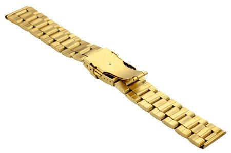 Bransoleta stalowa do zegarka 22 mm BR-121/22 Gold