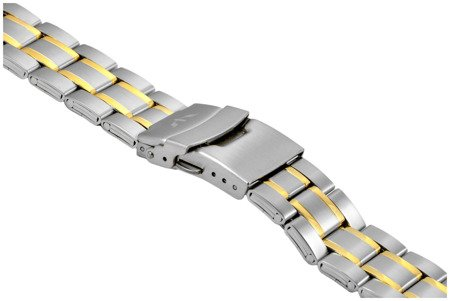 Bransoleta stalowa do zegarka 22 mm BR-121/22 TT Gold