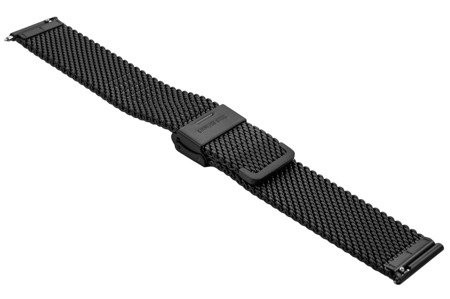 Bransoleta stalowa do zegarka 22 mm Bisset BM-102/22 Black Mat
