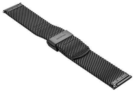 Bransoleta stalowa do zegarka 24 mm Bisset BM-102/24 Black