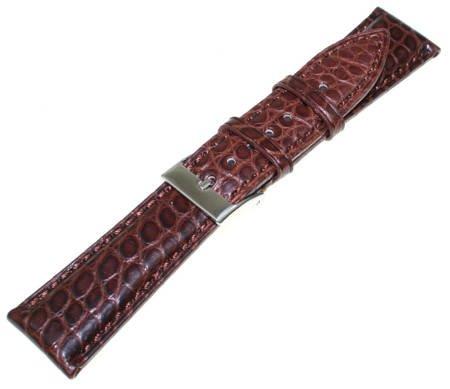 Brązowy skórzany pasek do zegarka Tekla 22 mm KA20.22 aligator