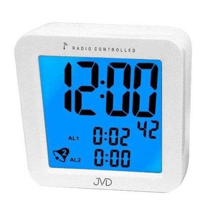 Budzik JVD RB26 Dwa alarmy, DCF77