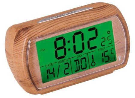Budzik JVD RB78.3 Imitacja drewna Termometr