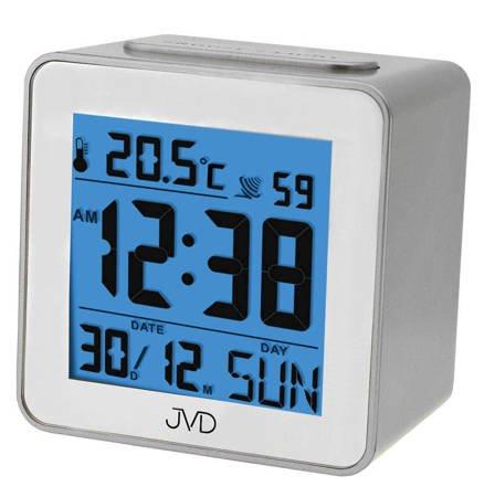 Budzik JVD RB9234.1 Termometr DCF77 Dni Tygodnia PL