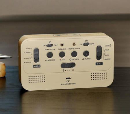 Budzik akumulatorowy MPM C02.4003.53 melodie