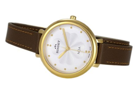 Damski klasyczny zegarek BISSET BSAE82 GISX 03BX