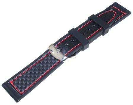 Silikonowy pasek do zegarka 20 mm Tekla SC12.20