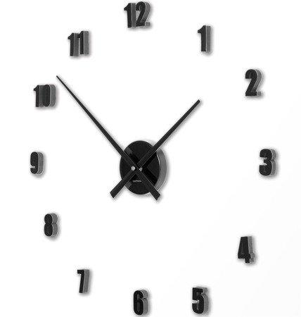 Zegar ścienny ExitoDesign HS-138BK naklejany na ścianę, szybę...