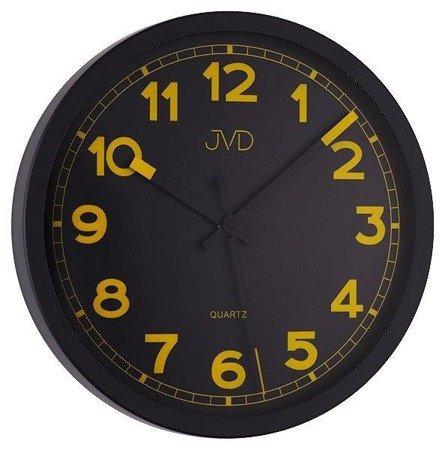Zegar ścienny JVD HA12.1 30,5 cm Metalowy, cichy mechanizm