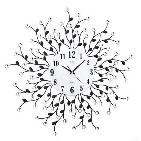 Zegar ścienny JVD HJ78 z kryształkami średnica 59 cm