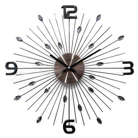 Zegar ścienny JVD HT104.2 z kryształkami, średnica 49 cm