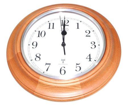 Zegar ścienny JVD NR27043.41 Drewniany DCF77