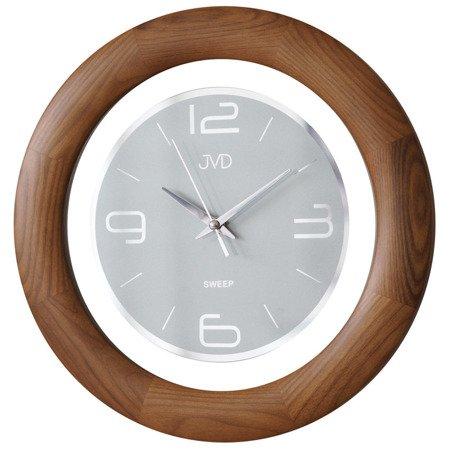 Zegar ścienny JVD NS14065.11 Drewniany Cichy