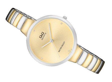 Zegarek Q&Q F611-400 Klasyczny Cyrkonie