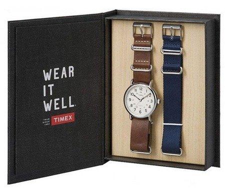 Zegarek Timex TWG012500 Weekender Indiglo Gift Box Set